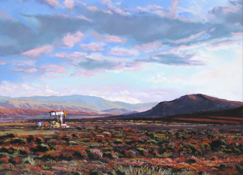 Hamilton Dome Sunset by Western pastel landscape artist Don Rantz