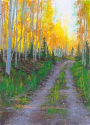 Hart Prairie by Western pastel landscape artist Don Rantz