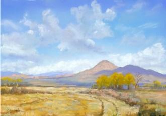 High Desert Autumn by Western pastel landscape artist Don Rantz