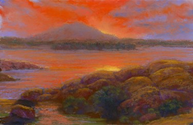 Orange and Yellow by Western pastel landscape artist Don Rantz