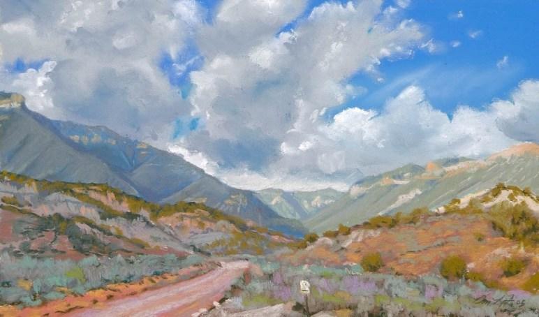 The Haystacks by Western pastel landscape artist Don Rantz