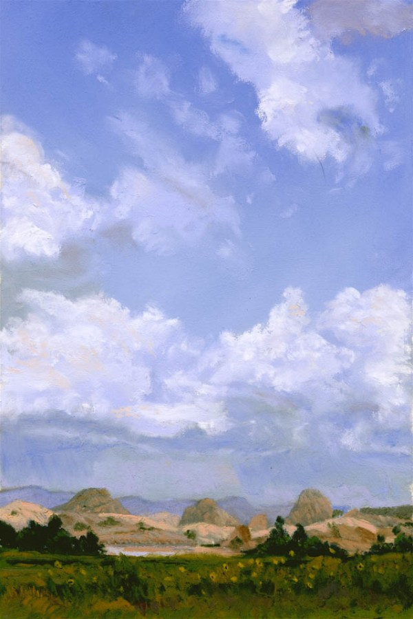 Willow Lake Sky by Western pastel landscape artist Don Rantz