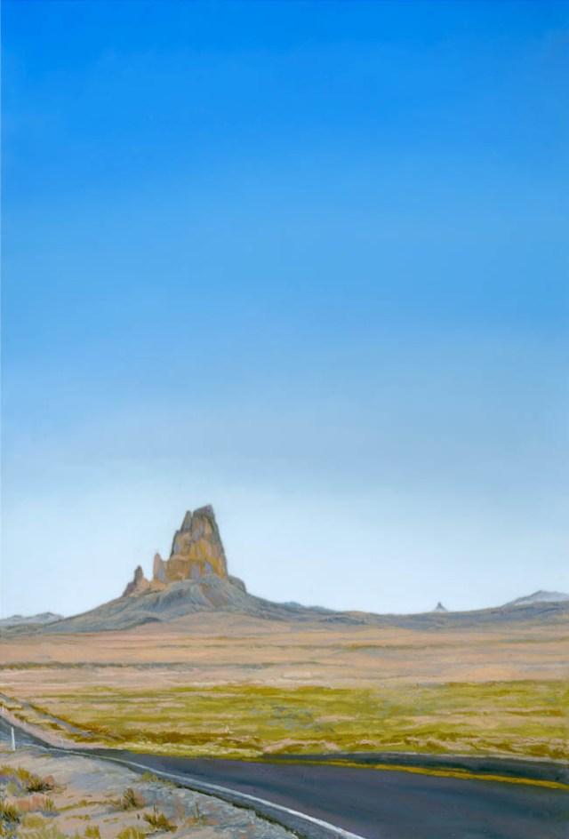 Agathla by Western pastel landscape artist Don Rantz