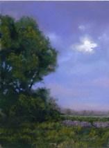 Blue by Western pastel landscape artist Don Rantz