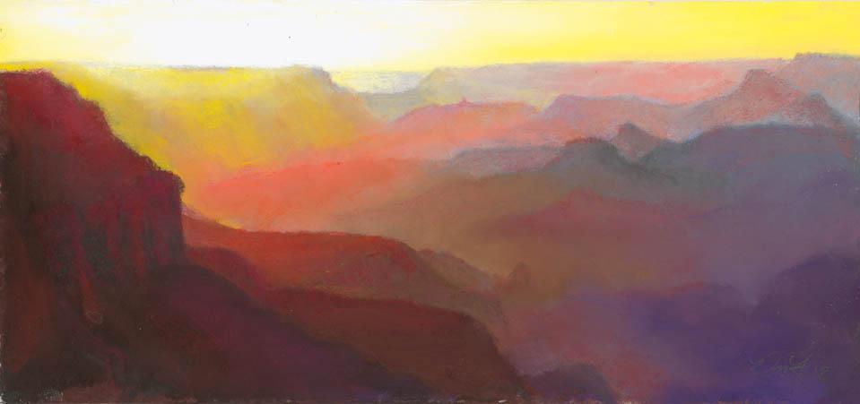 Grand Canyon 10 by Western pastel landscape artist Don Rantz