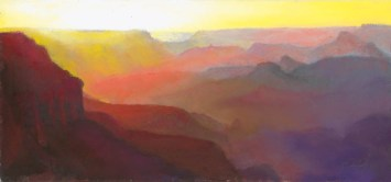 Grand Canyon 10 by Western pastel landscape artist Don Rantz