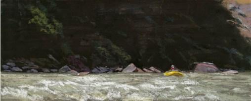 Dark Canyon by Western pastel landscape artist Don Rantz
