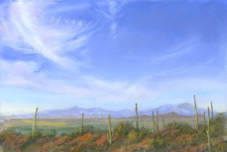 Desert Sky by Western pastel landscape artist Don Rantz