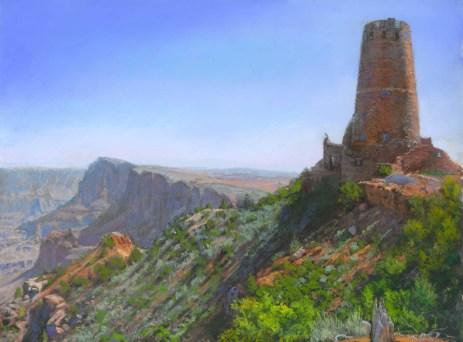 Grand Canyon 8 - Desert View by Western pastel landscape artist Don Rantz
