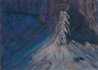 Grand Canyon 13-Fading Light by Western pastel landscape artist Don Rantz