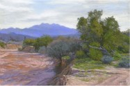 Four Peaks by Western pastel landscape artist Don Rantz