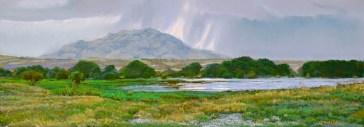 Granite Mountain Storm by Western pastel landscape artist Don Rantz