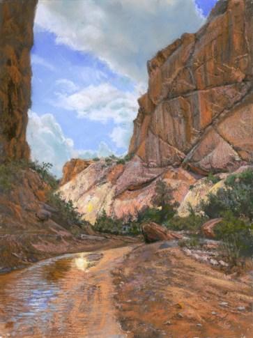 Hackberry Canyon by Western pastel landscape artist Don Rantz