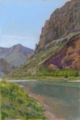 Head by Western pastel landscape artist Don Rantz