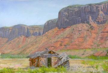 Delores River Homestead by Western pastel landscape artist Don Rantz