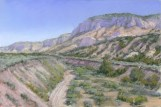 Johnson Canyon by Western pastel landscape artist Don Rantz