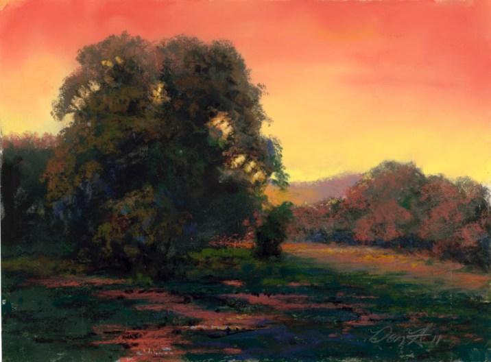 Orange by Western pastel landscape artist Don Rantz