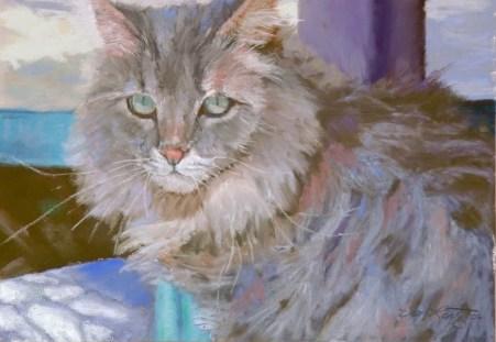 Piercing Stare by Western pastel landscape artist Don Rantz
