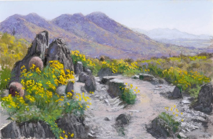 Pointy Rocks by Western pastel landscape artist Don Rantz