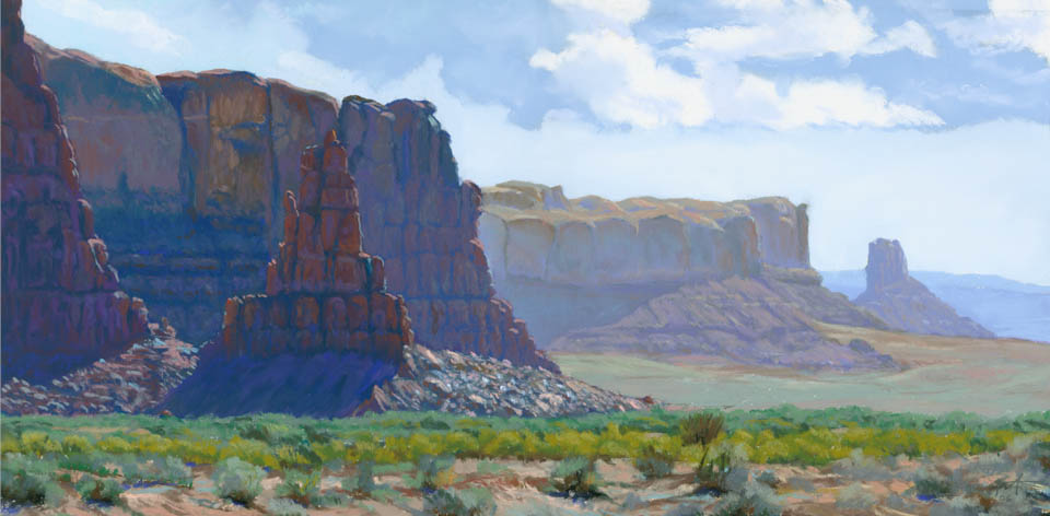 Receding Redwall 1 by Arizona pastel artist Don Rantz