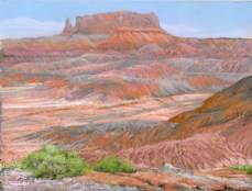 Red Butte by Western pastel landscape artist Don Rantz