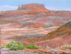 Red Butte by Western pastel landscape artist Don Rantz