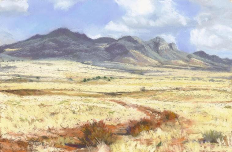 San Rafael Valley by Western pastel landscape artist Don Rantz