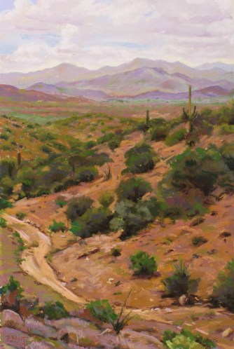 Santa Maria by Western pastel landscape artist Don Rantz
