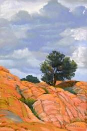 Solitary Tree by Western pastel landscape artist Don Rantz