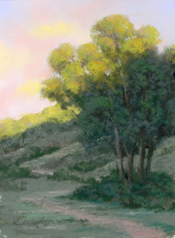 Split Light by Western pastel landscape artist Don Rantz