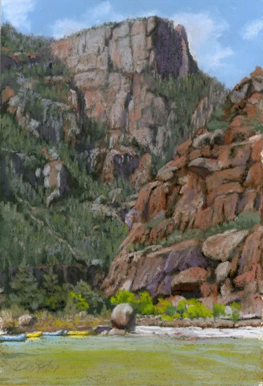 Tower by Western pastel landscape artist Don Rantz