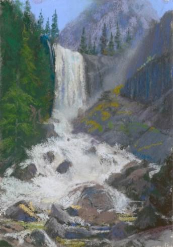 Vernal Falls by Western pastel landscape artist Don Rantz