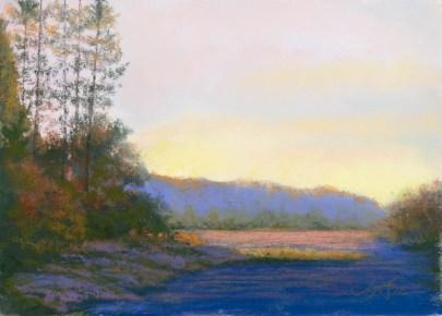 White Horse by Western pastel landscape artist Don Rantz