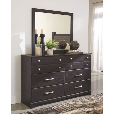 reylow dark brown dresser mirror