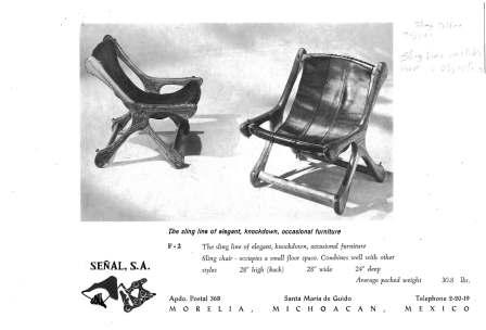 "SLING CASUALS – The Sling ""sloucher"" chair"
