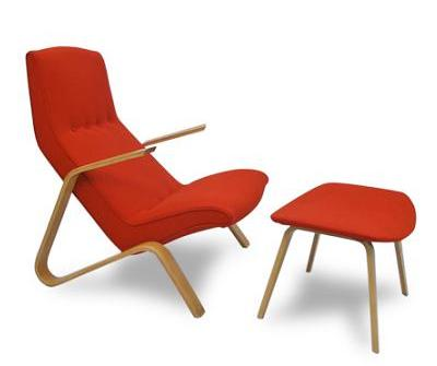Grasshopper Chair and Ottoman by Eero Saarinen 1946 KNOLL
