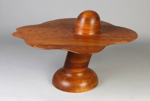 Wendell Castle Stacked Walnut Mushroom Table (1972)