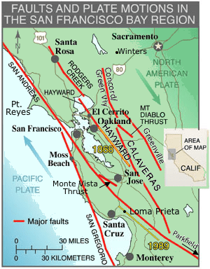 san francisco bay area faults