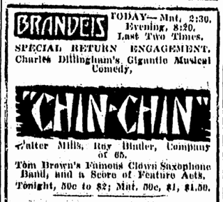 "Donna Montran joins company of ""Chin Chin"" – November 1919"