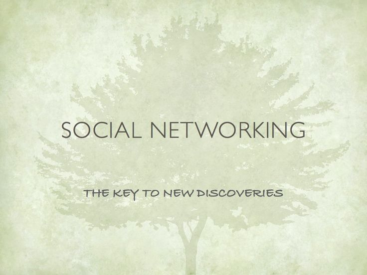 Social Networking for Genealogy
