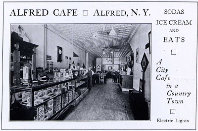 Advertising Photo of the Alfred Cafe from the 1921 Kanakadea yearbook.