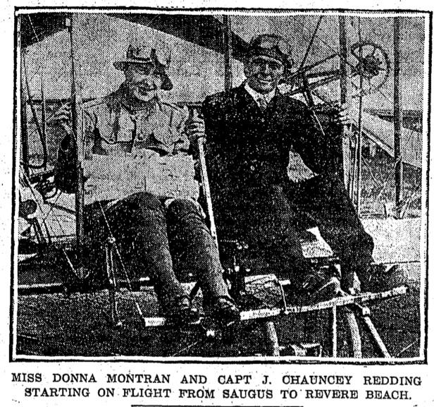 Donna Montran Biplane Flights – 1915