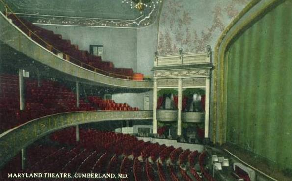 Stage of the Maryland Theater, Cumberland, MD