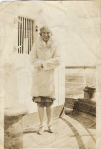 Photo of Donna on Ocean Liner, circa 1930.