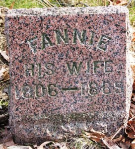 Marker - Fannie (Taylor) Blackhurst - Photo by Genealogy Bug Kate