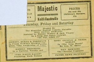 Majestic (Keith Vaudeville) ad - Unknown date or location