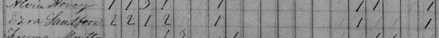 Ezra Sanford in 1840 Census