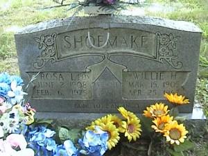 Marker of Willie Hayes Shoemake