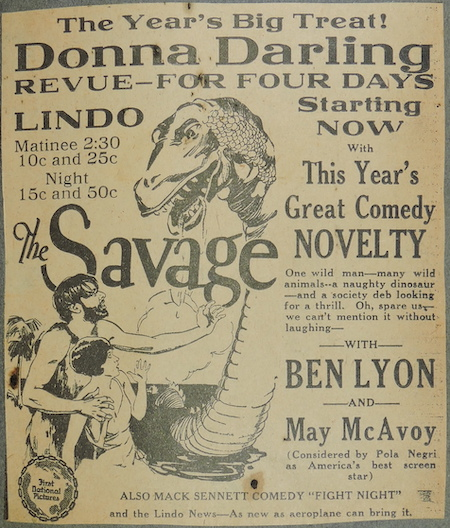 Clipping of Donna Darling & The Savage at the Lindo Theatre