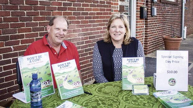 George and Rachel Barker at book signing Tallassee Tribune